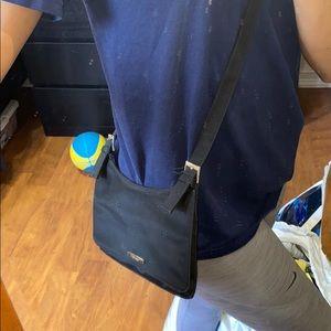 Black Nine West cross body purse